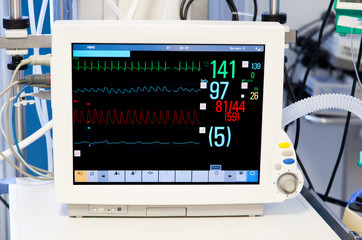 Patients Monitor in Intensive Care Unit