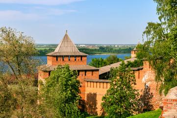 Kremlin wall and tower, Russia, Nizny Novgorod