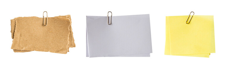 paper clip for set on isolated white background