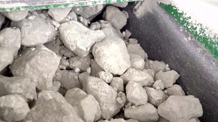 Big limestones on a conveyor