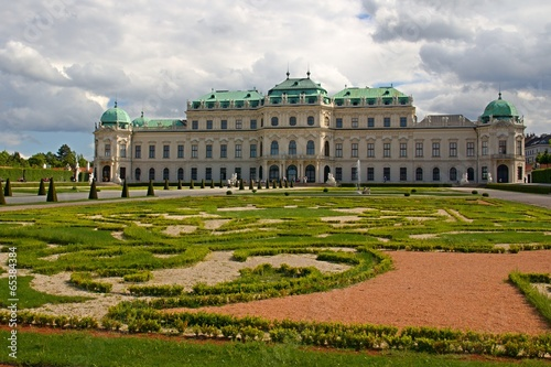 Garden of Belvedere Palace in Wien, Austria