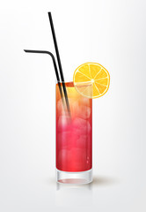 Realistic illustration of the Garibaldi cocktail