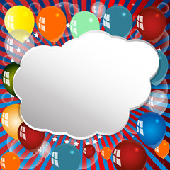 Festive background with balloons.