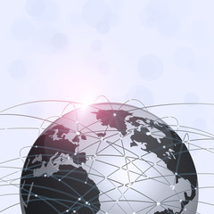 Global Web Connections Technology Background