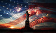 Independence day. Liberty enlightening the world - 65387373