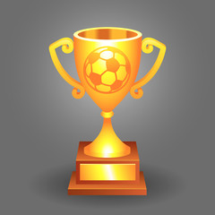 Soccer ball trophy gold cup bacground