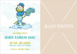 Baby Boy Arrival Card - with place for your text and photo