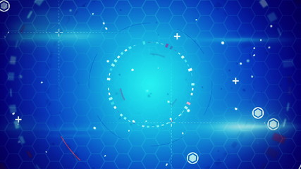 blue abstract techno loopable background