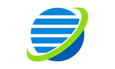 globe orbit abstract logo