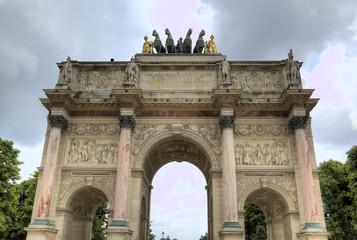 The Arc de Triomphe du Carrousel. Paris, France