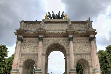 The Arc de Triomphe du Carrousel. Paris, France