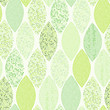 Seamless pattern of abstract leaves.