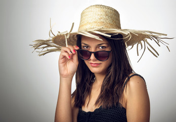 Girl with Staw Hat II