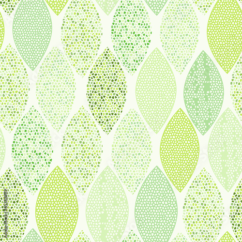 Panel Szklany Seamless pattern of abstract leaves.