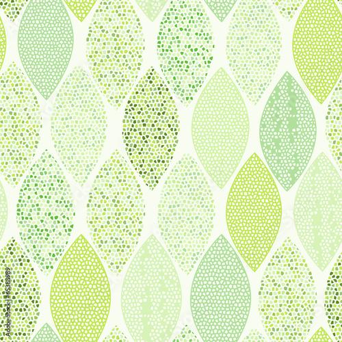Fototapeta Seamless pattern of abstract leaves.