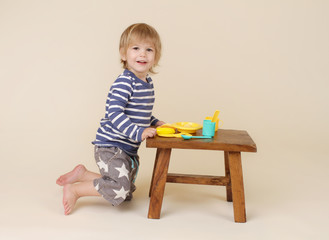 Child with Food, Nutrition concept