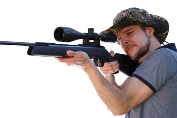 Smart shooter aiming telescopic rifle