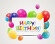 Happy Birthday Card Vector Illustration - 65389903