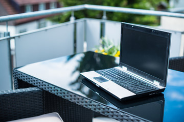 Home office on the terrace