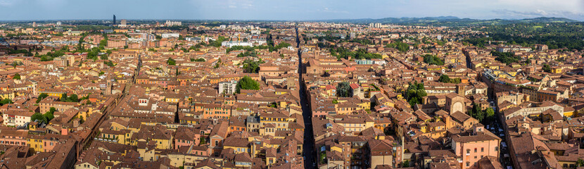 Panorama of Bologna, Italy
