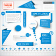 Blue infographic timeline elements / template