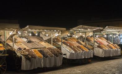 Night market in Jemaa el-Fnaa, Medina of Marrakech, Morocco