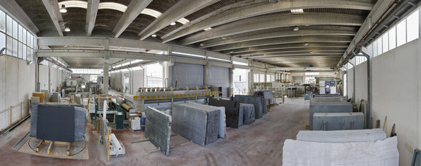Italy, marble cutting factory - industrial