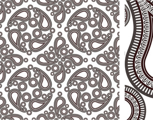 Seamless cashmere pattern illustration vector