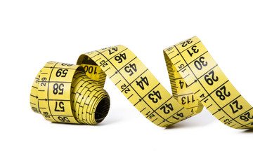 tape measure isolated on white background objects