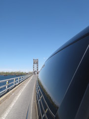 View of bridge and highway in the rear