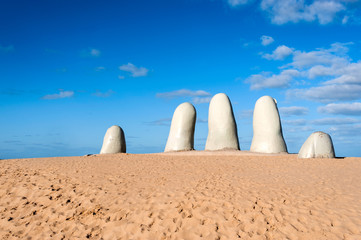 The Hand Sculpture, City of Punta del Este, Uruguay