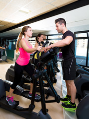 Aerobics elliptical walker trainer personal trainer