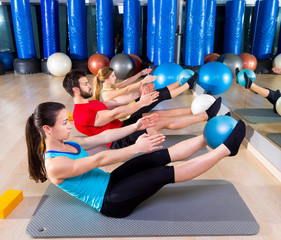 Pilates softball the teaser group exercise at gym