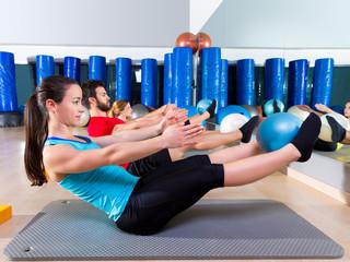 Pilates softball the teaser group exercise at gym