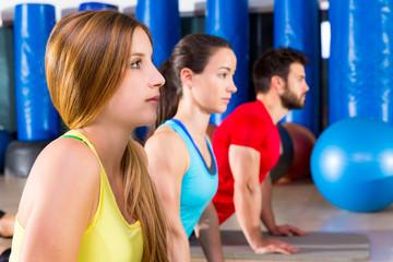 Pilates Yoga training exercise in fitness gym