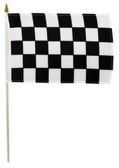 Checkered flag on pole