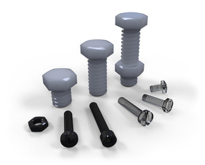 Plastic screws