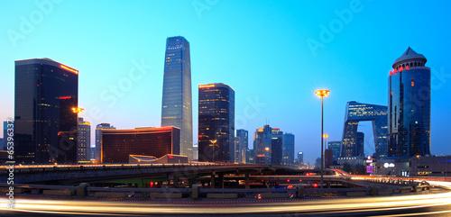 Foto op Aluminium Beijing Beijing's modern skyline at dusk