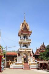 bell tower at wat kanham
