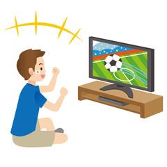 男性 サッカー 観戦