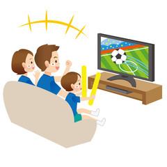 家族 サッカー 観戦