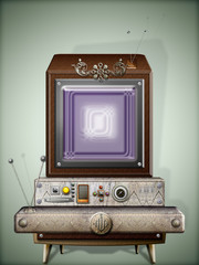 Steampunk-retro' television series.