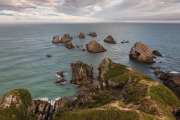 Nugget Point at Catlins coast, New Zealand