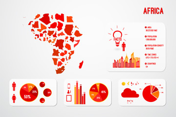 Africa Continent Map Infographics Vector