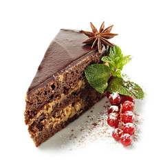 Dessert - Chocolate Pie with Fresh Berries