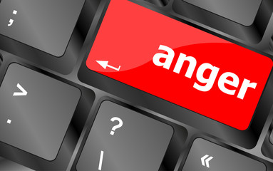 anger Button on Modern Computer Keyboard key