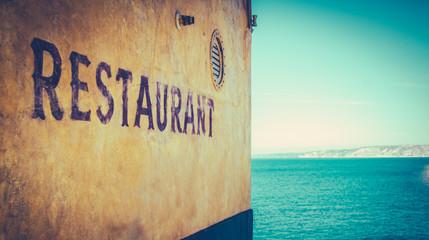 Retro Rustic Restaurant By The Sea