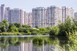 Obrazy na płótnie, fototapety, zdjęcia, fotoobrazy drukowane : Lake in the big city, Kiev