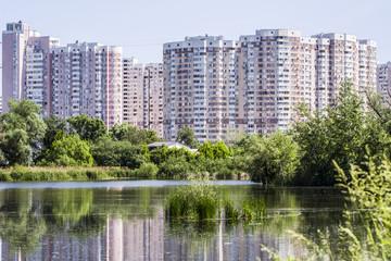 Lake in the big city, Kiev
