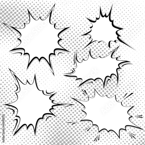 Bomb explosion comic style templates